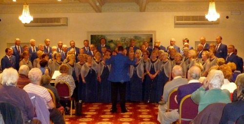 Builth Joint choir with Adrian