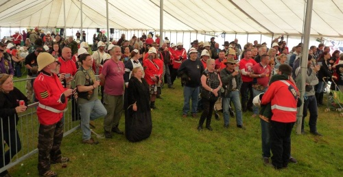 Audience at the Rorke's Drift Rally, Brecon May 2015