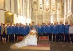 Brecon Cathedral choir & Bride &Groom