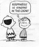 Happiness is singing n the choir