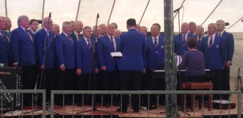 Singing at the Rorkes Drift Rally Brecon May 2016
